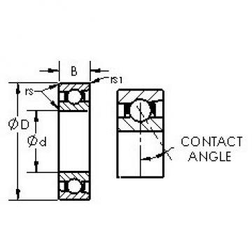 AST 71816C angular contact ball bearings