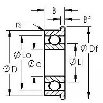AST F627H deep groove ball bearings