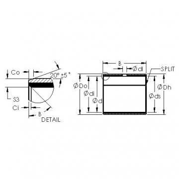 AST AST40 7570 plain bearings