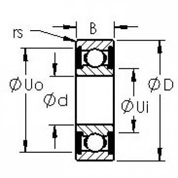 AST 629H-2RS deep groove ball bearings