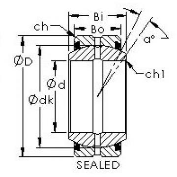 AST GEG70ES-2RS plain bearings