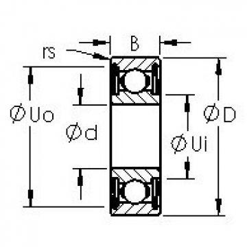 AST 604HZZ deep groove ball bearings