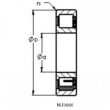 AST NJ314 EM6 cylindrical roller bearings