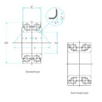 45 mm x 84 mm x 39 mm  FAG 547103 angular contact ball bearings
