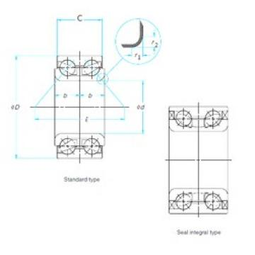 51 mm x 96 mm x 50 mm  FAG 804075A angular contact ball bearings