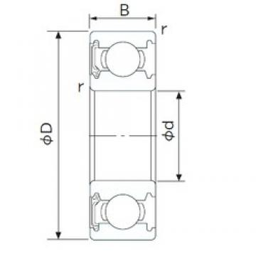12 mm x 32 mm x 10 mm  CYSD 6201-RS deep groove ball bearings