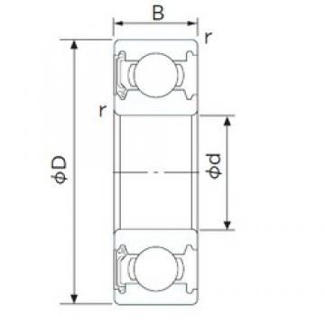 180 mm x 250 mm x 33 mm  CYSD 6936-RZ deep groove ball bearings