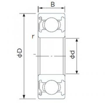 100 mm x 150 mm x 24 mm  CYSD 6020-Z deep groove ball bearings