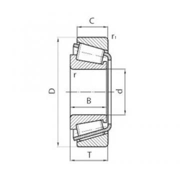 105 mm x 170 mm x 38 mm  FAG 528946 tapered roller bearings