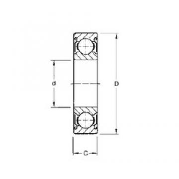 15,875 mm x 34,925 mm x 11,112 mm  CYSD 1623-ZZ deep groove ball bearings