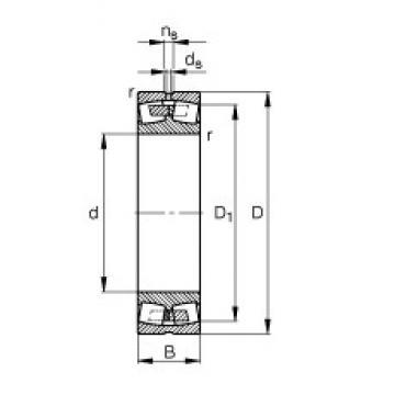 170 mm x 260 mm x 67 mm  FAG 23034-E1A-M spherical roller bearings