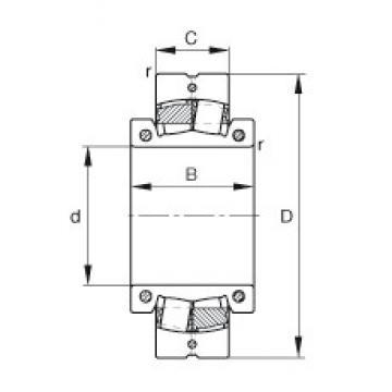6 15/16 inch x 320 mm x 142 mm  FAG 231S.615 spherical roller bearings