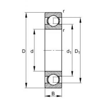 20 mm x 47 mm x 14 mm  FAG S6204 deep groove ball bearings