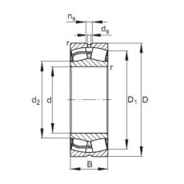 110 mm x 180 mm x 69 mm  FAG 24122-E1 spherical roller bearings
