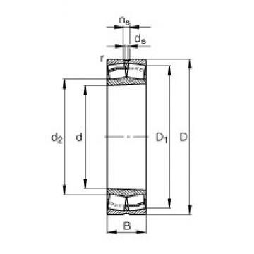 160 mm x 290 mm x 80 mm  FAG 22232-E1-K spherical roller bearings