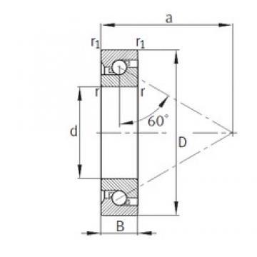 55 mm x 100 mm x 21 mm  FAG 7602055-TVP thrust ball bearings