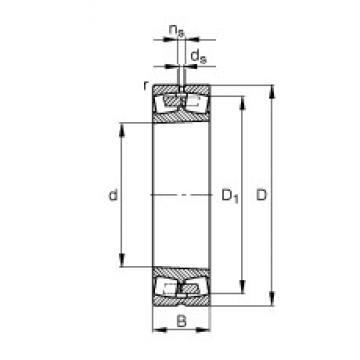 1320 mm x 1720 mm x 400 mm  FAG 249/1320-B-K30-MB spherical roller bearings