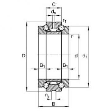180 mm x 280 mm x 120 mm  FAG 234436-M-SP thrust ball bearings