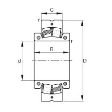 5 inch x 250 mm x 110 mm  FAG 222S.500 spherical roller bearings