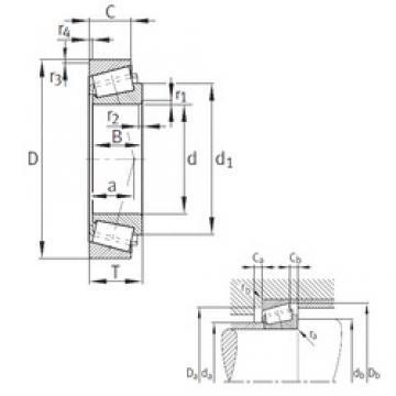 96,838 mm x 148,43 mm x 28,971 mm  FAG K42381-42584 tapered roller bearings