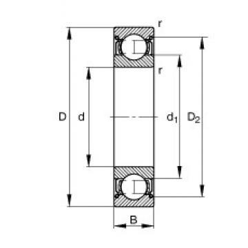 120 mm x 215 mm x 40 mm  FAG 6224-2Z deep groove ball bearings