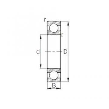 110 mm x 200 mm x 38 mm  CYSD 6222 deep groove ball bearings