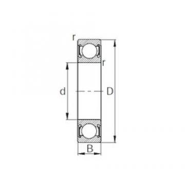 22,225 mm x 47,625 mm x 12,7 mm  CYSD R14-2RS deep groove ball bearings