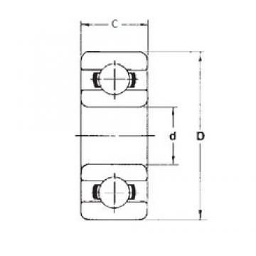 6 mm x 17 mm x 6 mm  FBJ 606 deep groove ball bearings