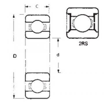 25 mm x 62 mm x 17 mm  FBJ 6305-2RS deep groove ball bearings