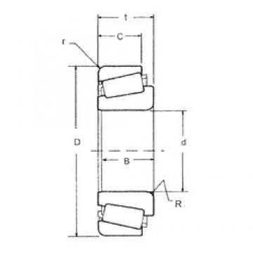 90 mm x 145 mm x 34 mm  FBJ JM718149/JM718110 tapered roller bearings