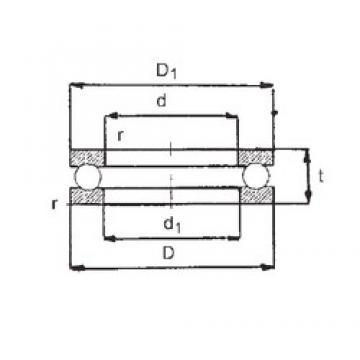 FBJ 0-20 thrust ball bearings