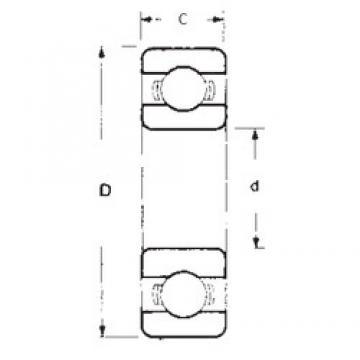40 mm x 90 mm x 23 mm  FBJ 6308 deep groove ball bearings