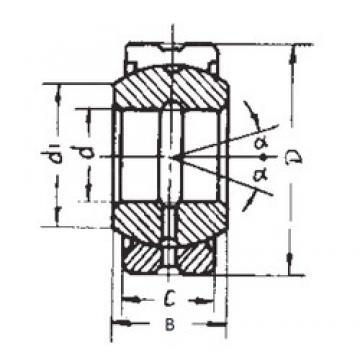 100 mm x 150 mm x 70 mm  FBJ GE100ES-2RS plain bearings