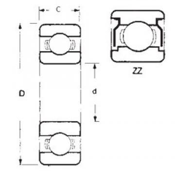 60 mm x 95 mm x 18 mm  FBJ 6012ZZ deep groove ball bearings