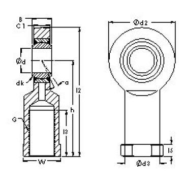 AST SIBP12S plain bearings