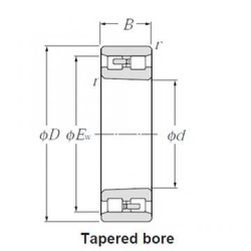110 mm x 170 mm x 45 mm  CYSD NN3022K/W33 cylindrical roller bearings