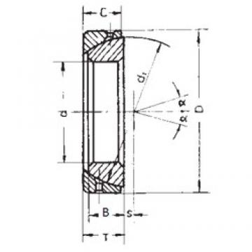 40 mm x 68 mm x 19 mm  FBJ GAC40S plain bearings