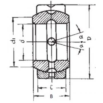 57,15 mm x 90,488 mm x 50,013 mm  FBJ GEZ57ES plain bearings