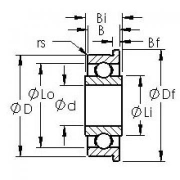 AST SFRW166 deep groove ball bearings