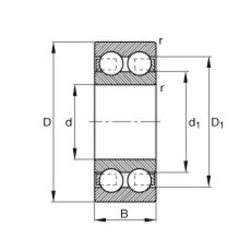 10 mm x 30 mm x 14 mm  FAG 4200-B-TVH deep groove ball bearings