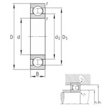630 mm x 780 mm x 69 mm  FAG 618/630-M deep groove ball bearings